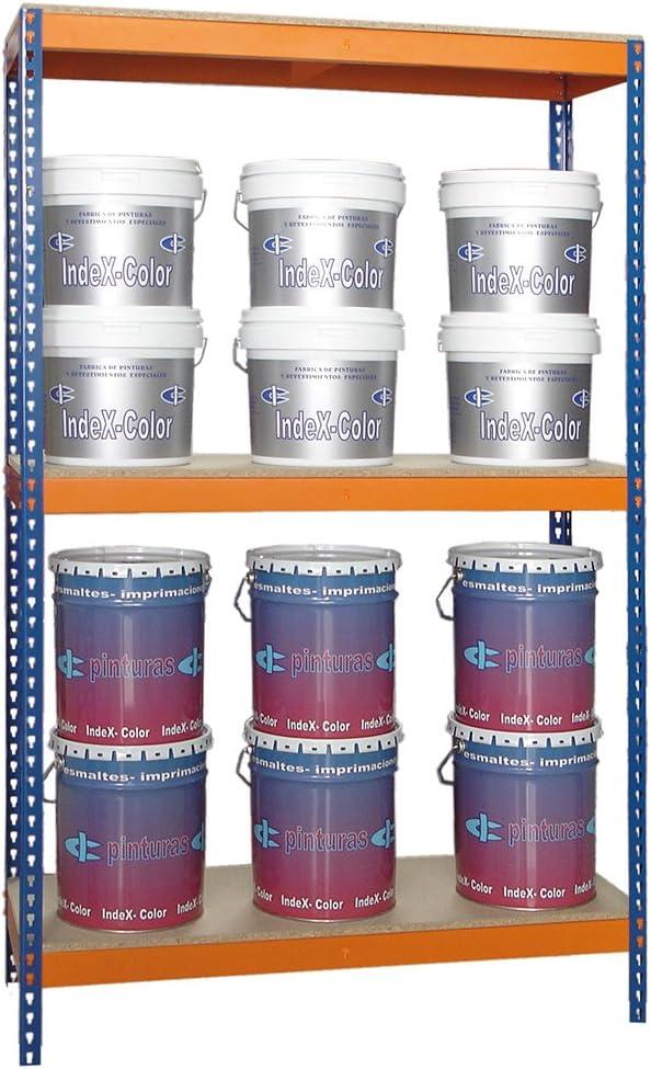 Med Color Azul//Naranja Media Carga J600 con 3 niveles por nivel Estanter/ía para 500 kgs 2000x1200x450 mm