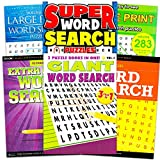 Large Print Word Search Books for Adults Super Set -- 4 Jumbo Word