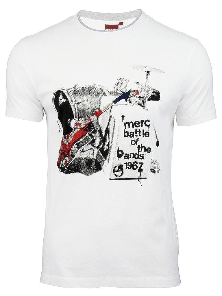 Merc - Camiseta - para Hombre Blanco Small: Amazon.es: Ropa y accesorios