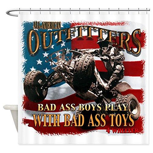 Shower Curtain Bad Ass Boys Play Bad Ass Toys