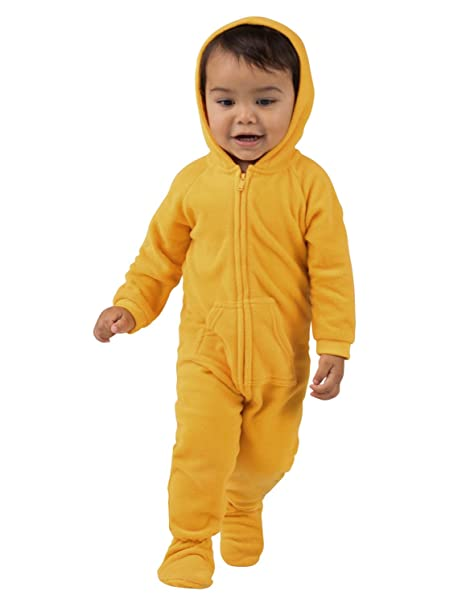 eab1a7d16 Amazon.com  Footed Pajamas - Creamsicle Infant Hoodie Fleece Onesie ...