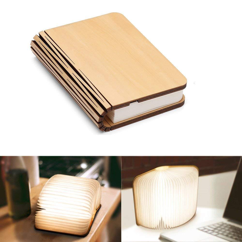 Lampada da Libro, XYEU Lampada a LED Pieghevole USB Ricaricabile Lampada Ambientale Decorativa 2000mAh Arredamento Ufficio, Regalo,3 Colori-11CM