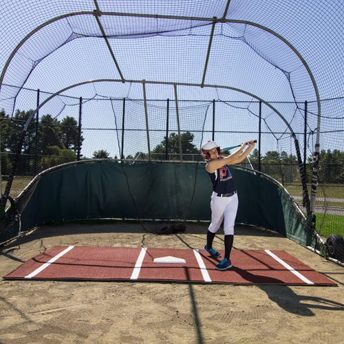 12' x 7' Clay Softball Batting Mat Pro (lined) by ProMounds