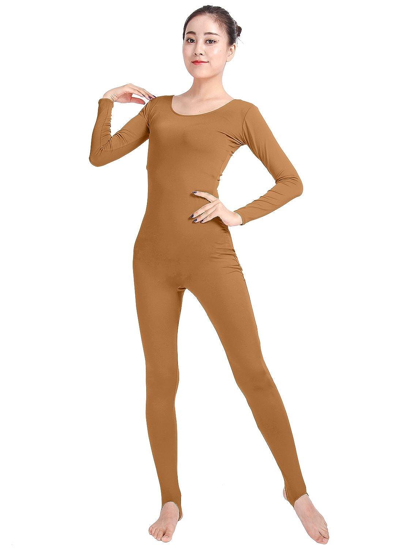 Texmex Women's Unitard Bodysuit Dancewear Lycra Long Sleeve Yoga Jumpsuit ATM004-1