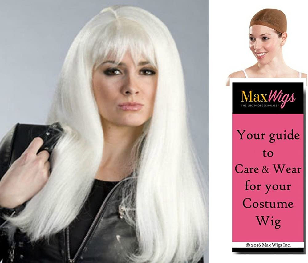 Amazon Com Storm Raingirl Color White Enigma Wigs Long Anime X Men Halle Cosplay Haley Berry Bundle W Cap Maxwigs Costume Wig Care Guide Clothing