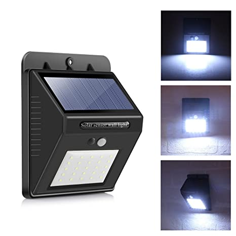 Solar Panel PIR Motion /& Light Sensor 10 LED Wall Light Lamp Outdoor New F1F4