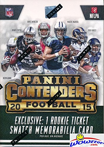 2015 Panini Contenders NFL Football Factory Sealed Retail Box with EXCLUSIVE ROOKIE TICKET SWATCH MEMORABILIA Card! Look for Rookies & Autographs of Jameis Winston, Marcus Mariota & Many More!