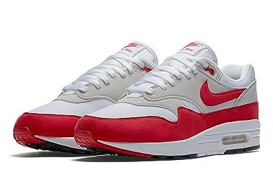 9cf3780734036e spain nike air max 1 anniversary mens sneakers 908375 103 white university  red 143a9 fa631