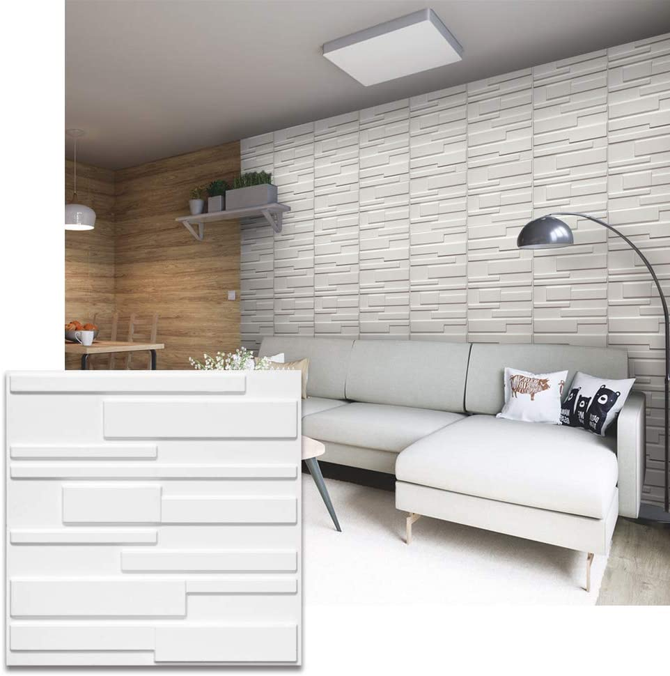 Wall Puzzle by Urban Decor Diamondback Easy Peel /& Stick 3D Panels for Home and Business Decoration 32sqft//Box