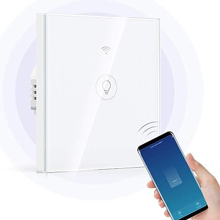 Wi-Fi Interruptor Alexa, Etersky Interruptor luz Inteligente, Interruptor Pared 1 Gang Compatible...