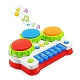 NextX Tastiera Musicale per Bambini - Tamburo e Pianoforte con Adorabili Suoni - Giocattolo Educativo Prima Infanzia - Regalo Perfetto di Natale per Bimbi 6+ Mesi