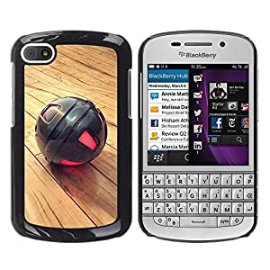 LECELL -- Funda protectora / Cubierta / Piel For BlackBerry Q10 -- Metal Sphere --