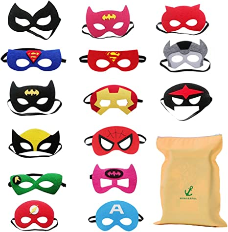 Image of DIY House 15 Piezas Mascaras Superheroes para Niños Kids Party Masquerade, Superhero Party Mask para niños Superhero Cosplay Party Máscaras de Ojos para niños Bolsas de Fiesta Rellenos