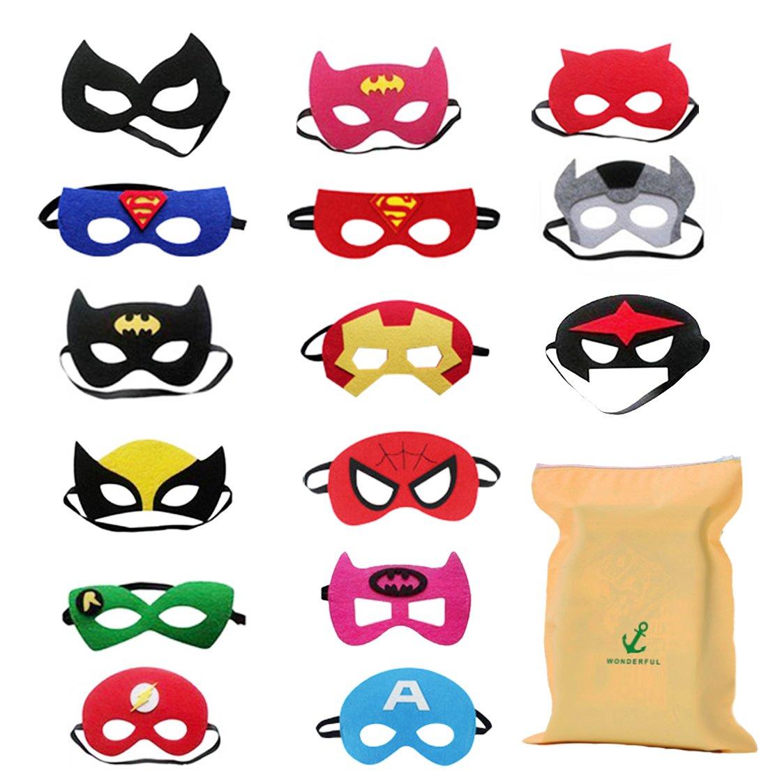 15 Pezzi Maschere Supereroi Bambini Adulti Mascherata Per Feste Mascherine Supereroi Supereroe Maschera Per Feste Per Bambini Supereroe Cosplay Maschere Per Gli Occhi Per Bambini Borse Per Feste Preferito Forwin Seller