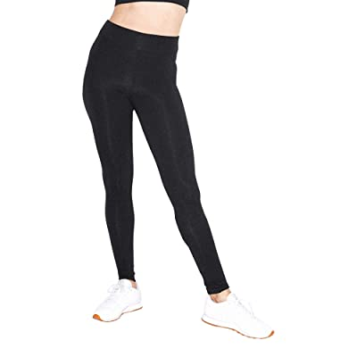 American Apparel Women's Cotton Spandex Jersey High-Waist Leggings at Women's Clothing store