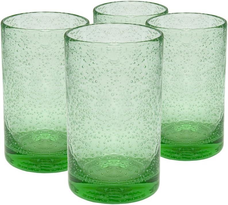 Artland Iris Highball Glasses, Light Green, Set of 4