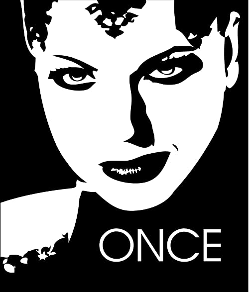 Once upon a time evil queen regina vinyl decal for car laptop