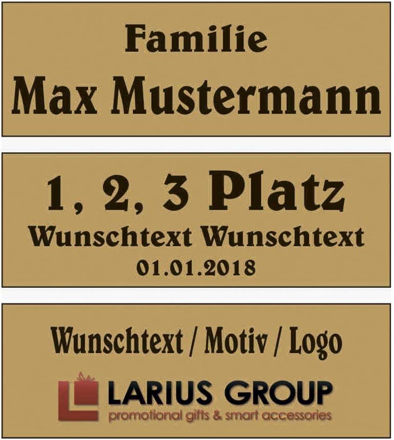 Farben Pokalschilder Briefkastenschild selbstklebend Edelstahl T/ürschild mit Wunschtext Schild Namensschild Klingelschild versch Wei/ß