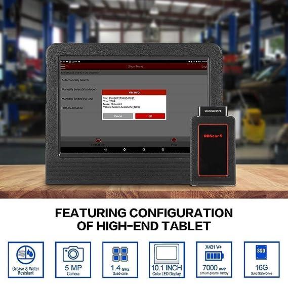 LAUNCH X-431 V+ Tablet Android Herramienta de diagnóstico profesional multimarca OBDII/EOBD dbscar wifi bluetooth 7000 mAh 2 años de actualizaciones ...