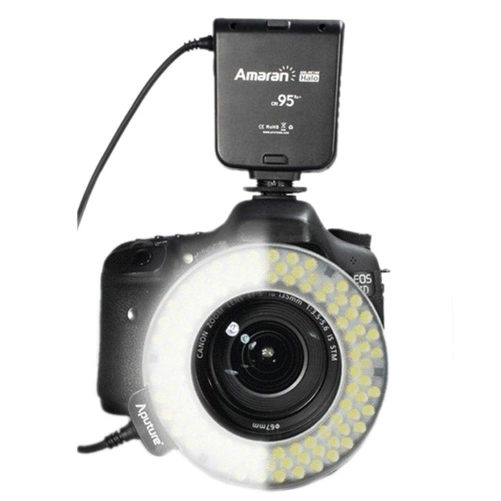 Amazon.com : Aputure Amaran Halo AHL-HN100 LED Ring Flash Light for ...
