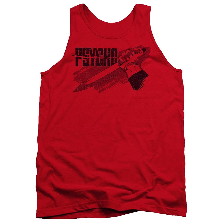 Psycho Classic Horror Film Logo and Knife Adult Tank Top Shirt