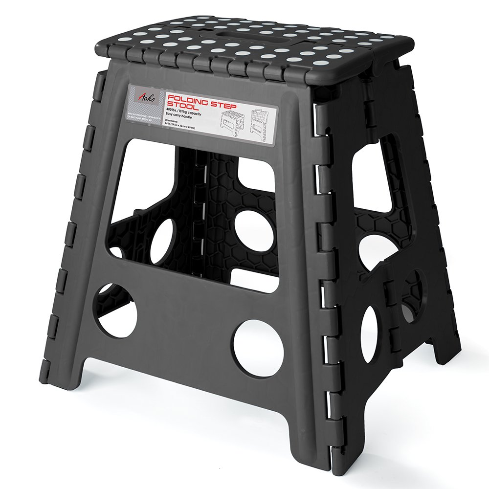 Amazon Com Acko 9 Quot X 11 Quot Black Folding Step Stool Great