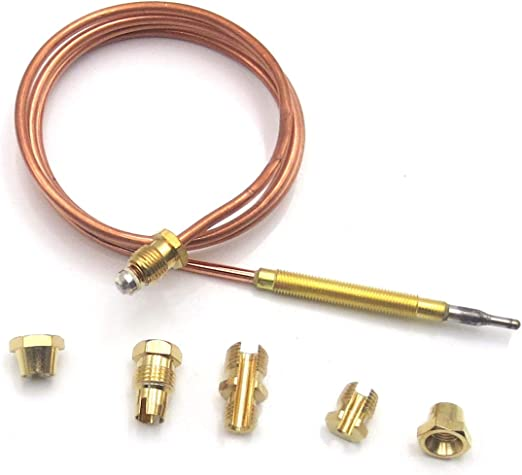 410mm Thermocouple M6x0.75 Thread on head With M8 x 1 End Connection Nuts Replacement Outdoor Patio Heater Part