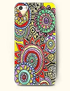 OOFIT Apple iPhone 4 4S Case Moroccan Pattern ( Colorful Flowers )