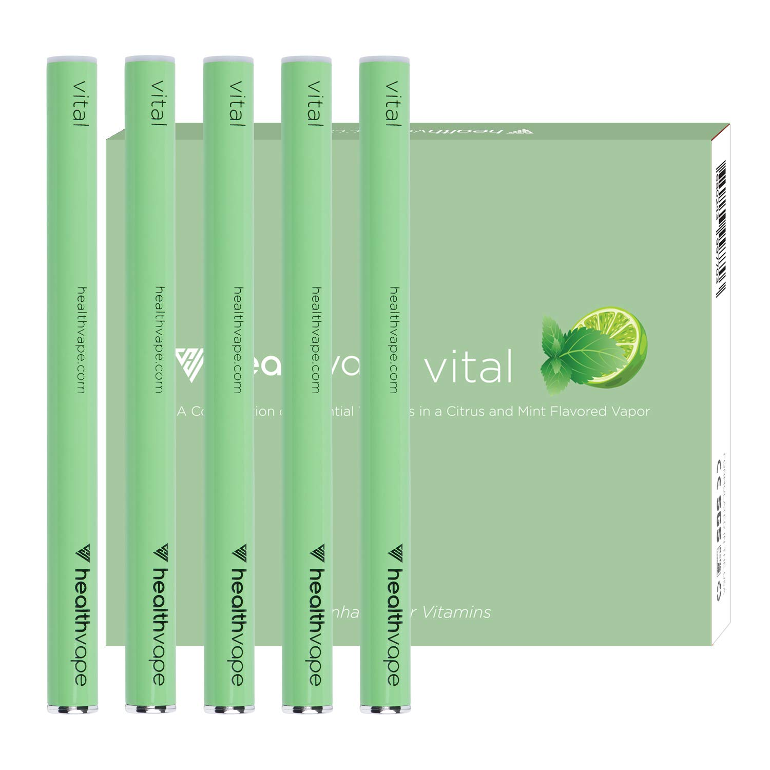 Vital Immune Support Vitamin and Antioxidant Inhaler Pen - CoQ10, Vitamin C, Vitamin B12, Vitamin E, Vitamin D, Essential Oils - Mint Flavored Healthy Immune Support - 5 Pack - by Health Vape