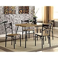 Banbury Gray and Dark Bronze 5 Piece Dining Set