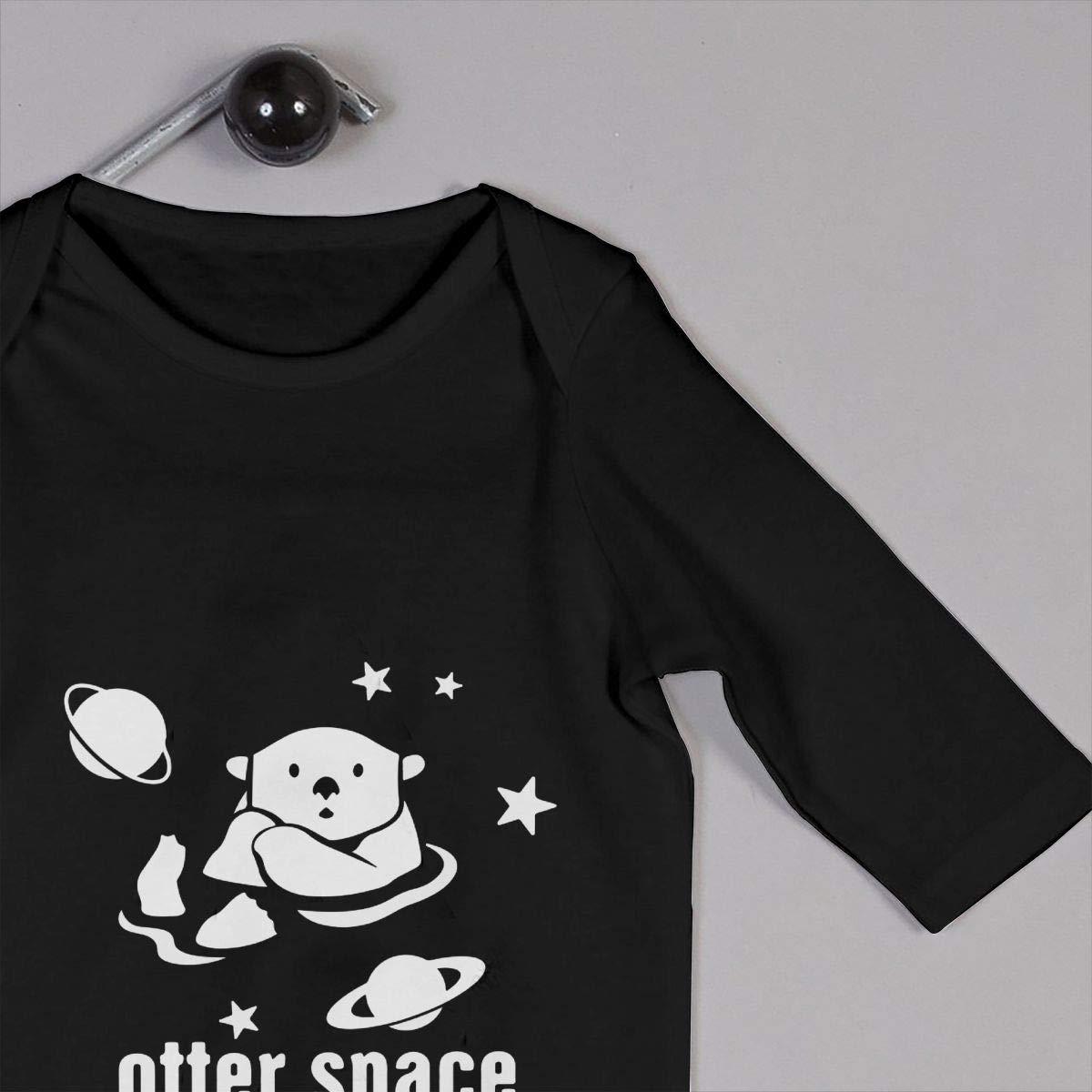 Comfortable Otter Space Cotton Sleepwear Db84UR@5p Newborn Baby Girls Boys Long Sleeve Bodysuit