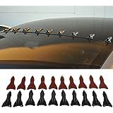 Vortex Generator Fits Universal | Jet Style Unpainted Black PP Rear Trunk Lip Lid Wing Deck by IKON MOTORSPORTS | 1985 1986 1987 1988 1989 1990 1991 1992 1993 1994 1995 1996 1997 1998 1999 2000 2001