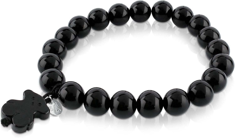 TOUS Jewelry - Pulsera elástica Icono Negro y Blanco con Oso