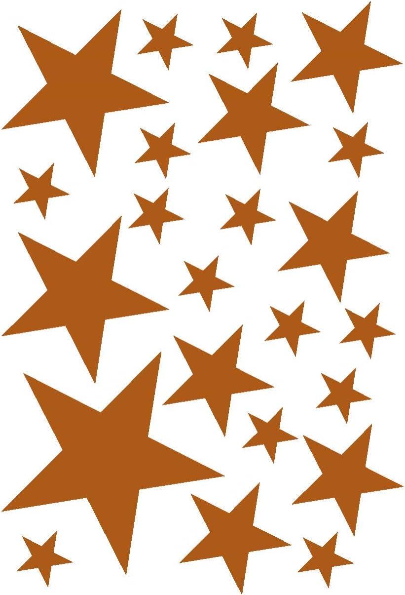 Samunshi/® Sterne Aufkleber Set gef/üllt 14x2,5cm6x5cm2x7,5cm1x10cm schwarz