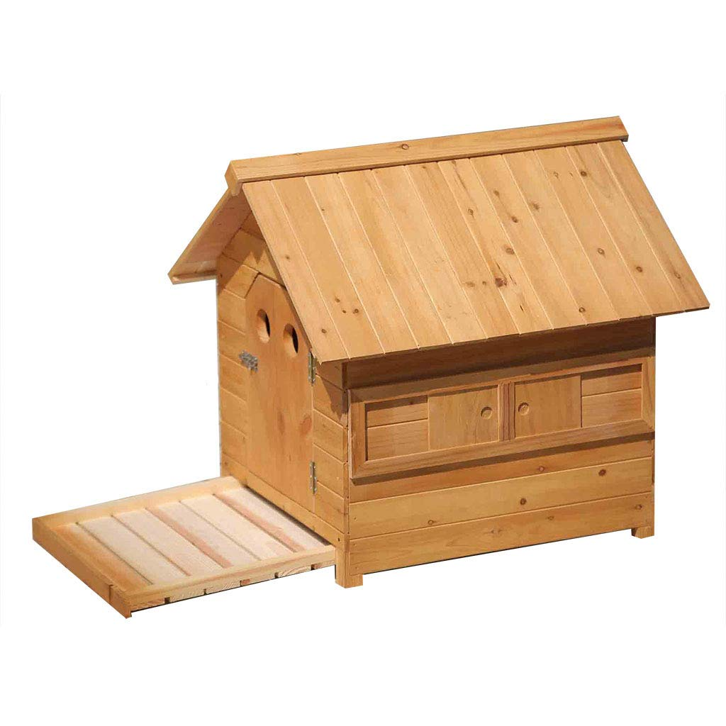 887781cm YANQ Wooden Dog House Rainproof Kennel Waterproof Kennel Solid Wood Pet House Cat Dog House Indoor And Outdoor Pet Cat Dog Cage Wooden (Size   88  77  81cm)