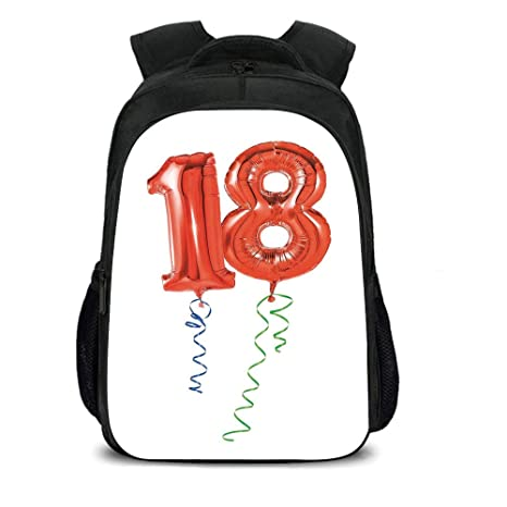 IPrint 157quot School Backpack18th Birthday DecorationFlying Party Balloons With Curly Ropes