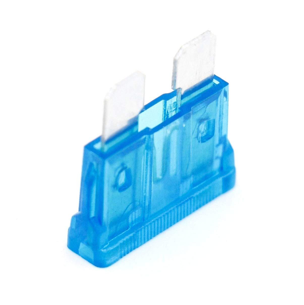 Fusible de cuchilla est/ándar para coche 15 A, 50 unidades Heschen ATC-15 color azul