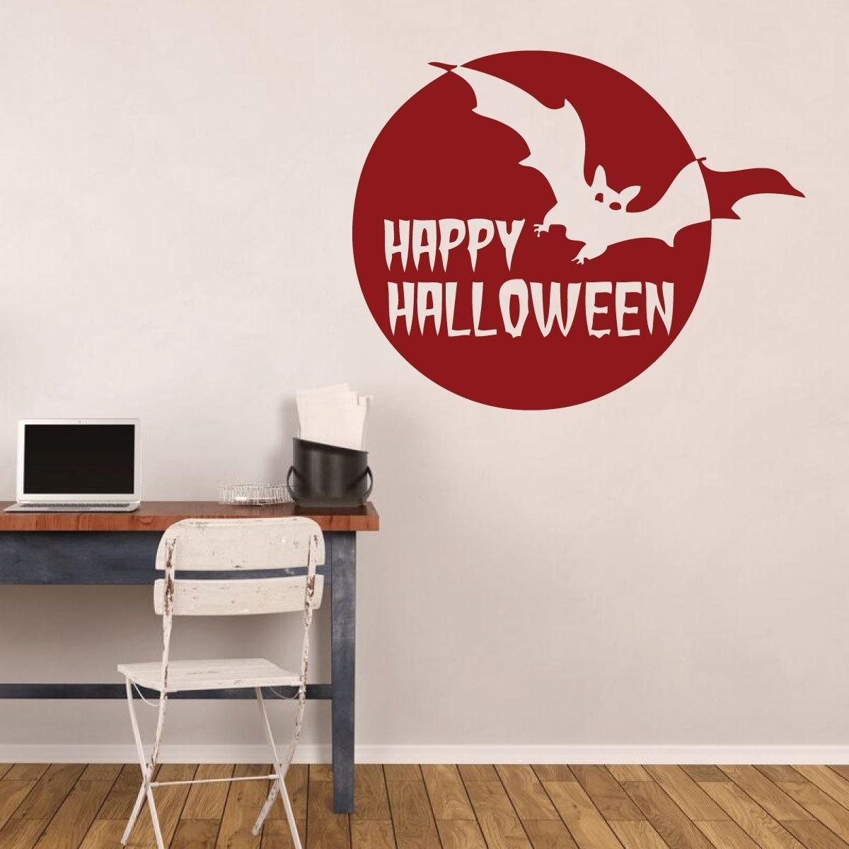 Full Moon Halloween Party Vinyl Wall Decor Halloween Bats Halloween Decals Happy Halloween Halloween Decal All Hallows Eve