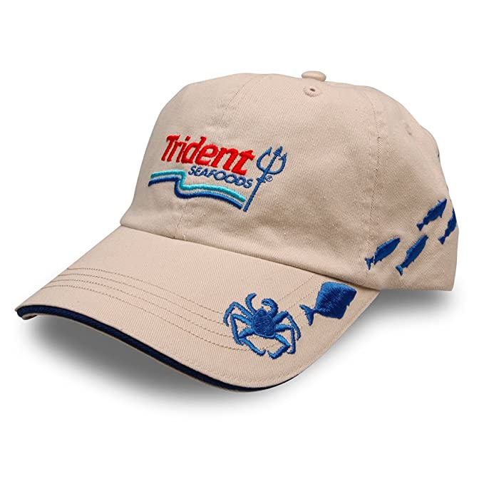 f7c7502cdad Amazon.com : Trident Crab Embroidered Crabbing and Fishing Hat Seen on Deadliest  Catch : Clothing
