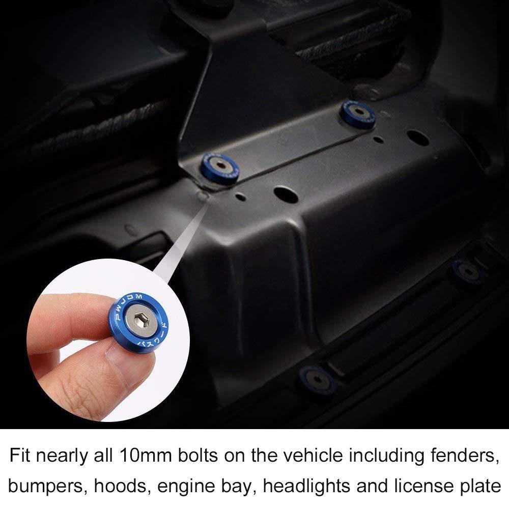 Billet Fender Aluminium Bumper Washer Bolt Engine Bay Dress Up Fastener Kit