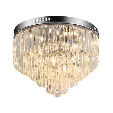 LED Modern Chandelier Crystals Pendant Flush Mount Ceiling Light Crystal Ball Light Fixture for Hallway, Bedroom, Living Room, Kitchen, Dining Room D 50cm 9-Light