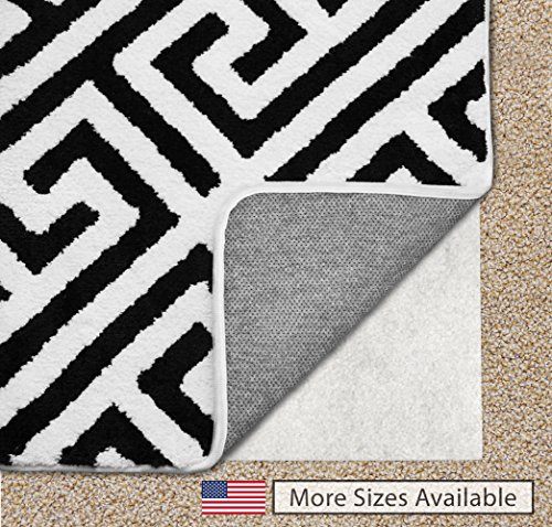 Gorilla Grip Original Area Rug Gripper Pad For Carpeted Floors, Made In USA, Size (2' x 10'), Available in Many Sizes, Pads Provide Thick Cushion Under Rugs Over Carpet Stop Non Slip Rug Padding
