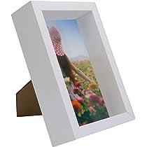 Marco de fotos 3D | Caja de fotos de 4x6 pulgadas | Color blanco ...
