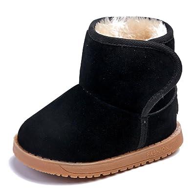 245c1967fb28c KINDOYO Bébé Filles   Garçons Hiver Chaussures Bottes pour Enfant Chaud  Fourrure Antidérapant Sole Souple Bottines