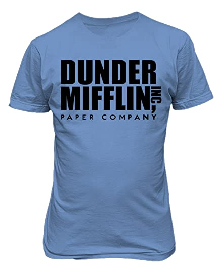 2256d02c0446 Image Unavailable. Image not available for. Color: Sheki Apparel Dunder  Mifflin Paper Company The Office TV Show Funny Humor Men's T-Shirt