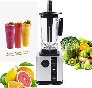 Commercial Grade Blender Mixer 2200W Smoothie Shake Blender Portable Food Blenders Juice Maker Professional Countertop Blender for Shakes, Fruit Food Mixer Soy milk Juicer Processor