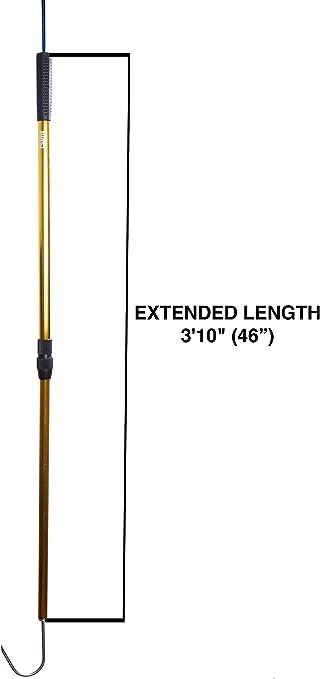 "AFTCO Fiberglass Gaff 6/' Length 2/"" Hook Floating Offshore Fishing Gaff"