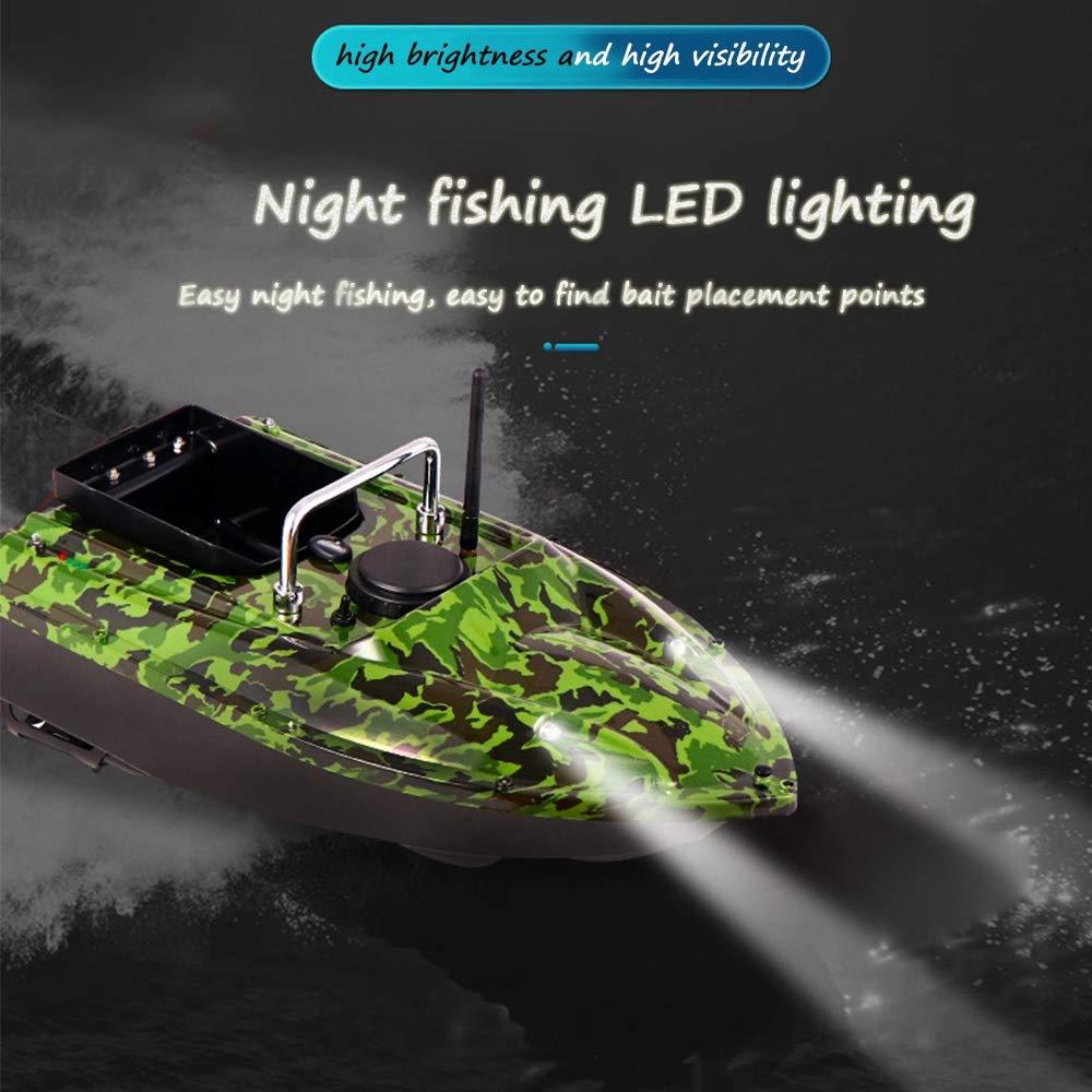 t/él/écommande 500M Outil de p/êche assist/é par Charge 1.5KG Batterie Grande capacit/é//Couleur Camouflage Lampe de Poisson leurre Bateau /à app/âts de p/êche Intelligent