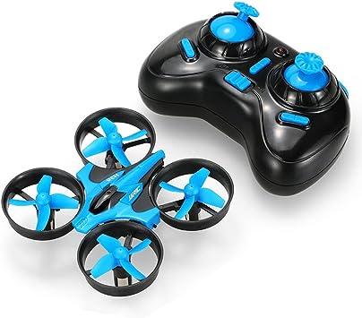 Opinión sobre JJRC Mini Quadcopter Drone con mando a distancia para principiantes (H36) para unisex-niños Azul