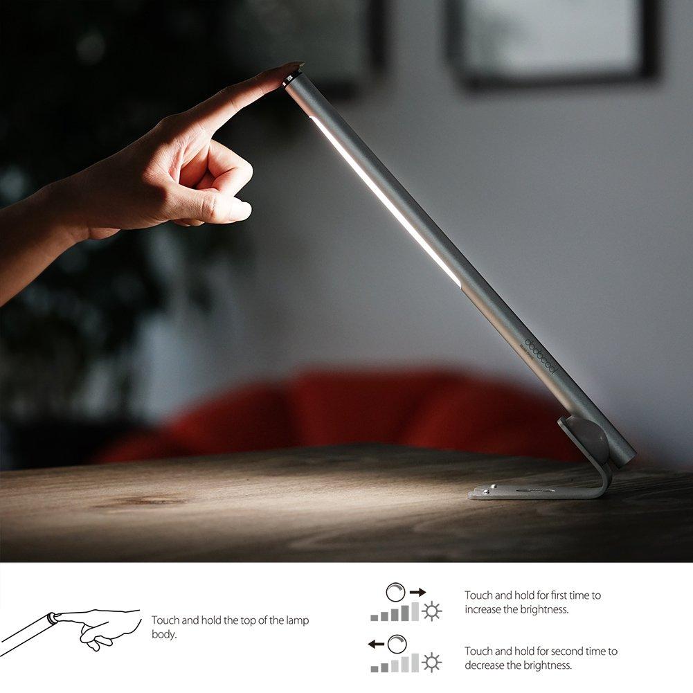 dodocool デスクライト、テーブルランプ、目に優しいタッチセンサーLED 光の輝度が最高から最下位に無段階に調整可能